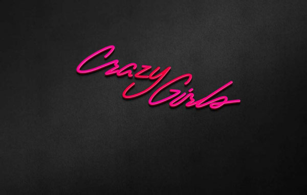 Логотип для Crazy Girls - стриптиз бар в г. Уфа